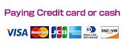 クレジットカード払いOK!